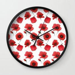Poppies pattern Wall Clock
