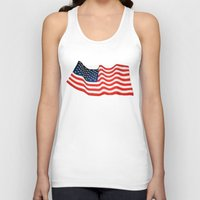 american flag Tank Tops featuring American Flag by George Robinson