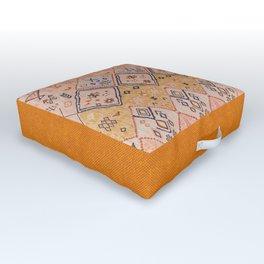 N218 - Mustard Yellow Oriental Heritage Boho Traditional Moroccan Desert Style Outdoor Floor Cushion