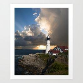 Lighthouse of New England Art Print