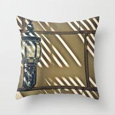 Lamp & Lines Throw Pillow