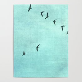 GEESE FLYING Poster