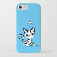 kitten iPhone & iPod Cases featuring Kitten by Freeminds