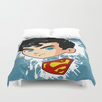 superman Duvet Covers featuring Superman by studio1six