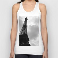 eiffel tower Tank Tops featuring Eiffel Tower by David Hohmann