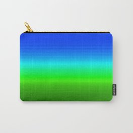 Blue Sky Green Grass Deconstructed (blue to green ombre gradient) Carry-All Pouch