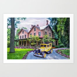 Rutherford B. Hayes Taxi Art Print