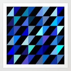 Blue Triangle Pattern (2013) Art Print