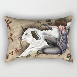 Kiba and Akamaru Rectangular Pillow