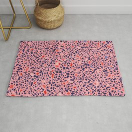 Terrazzo pink red blue Rug
