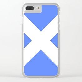 flag of scotland 4– scotland,scot,scottish,Glasgow,Edinburgh,Aberdeen,dundee,uk,cletic,celts,Gaelic Clear iPhone Case