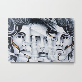 three face men Metal Print