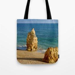 Praia da Rocha rocks Tote Bag