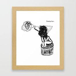 Dreaming of you. Framed Art Print