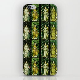 "William Morris ""Four seasons"" (Dining Room at Cragside House, Northumberland, UK) iPhone Skin"