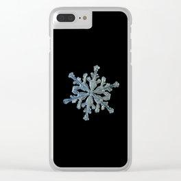 Real snowflake macro photo - 13.02.17 2 black Clear iPhone Case