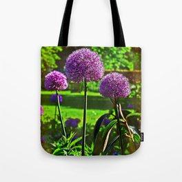 Purple Allium Spheres Tote Bag