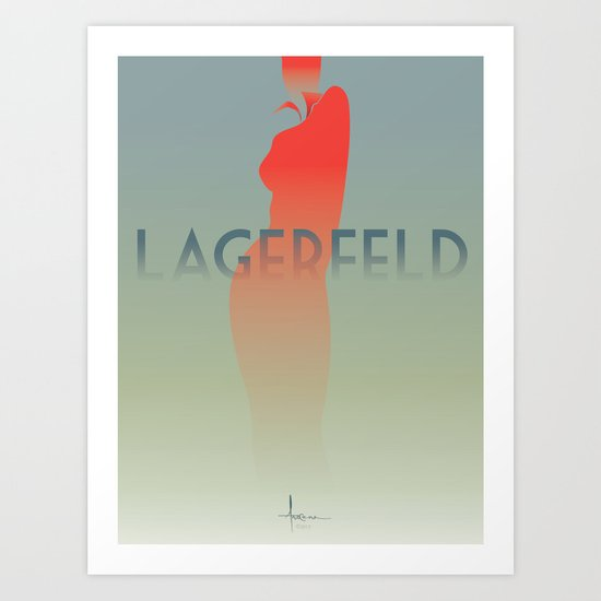 HomagetoFASHION_Karl Largerfeld Art Print