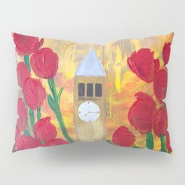150 Years of CU - An Alumni Anniversary Tribute with Red Tulip Flowers Pillow Sham