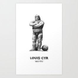 Montreal's Louis Cyr Art Print