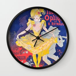 Jules Cheret - Luminous Pantomimes - Digital Remastered Edition Wall Clock