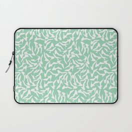 Shoes White on Mint Laptop Sleeve
