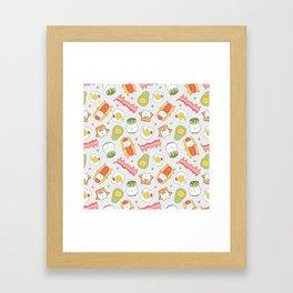 Cat food and succulent Framed Art Print