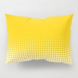 Yellow Dot Ombre to White Pillow Sham