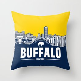 BUFFALO SKYLINE Throw Pillow