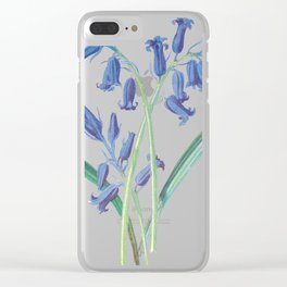 Blue Lily of the Valley Artwork Painting Clear iPhone Case