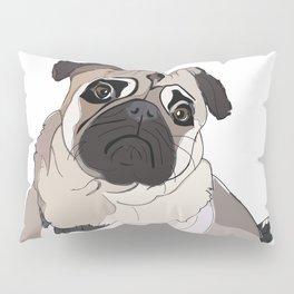 I Love You, i.e. I Ruff Woo!  Pug Love Pillow Sham