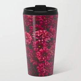 Painting The Flowers Red Metal Travel Mug