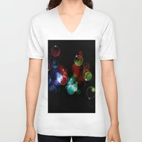 lights V-neck T-shirts featuring Lights by Digital-Art