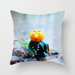 exhausted gwerg Throw Pillow
