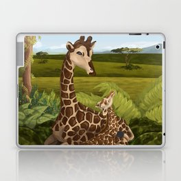 Giraffes, A Mother's love Laptop & iPad Skin
