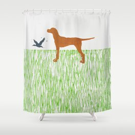 Hungarian vizsla dog Shower Curtain