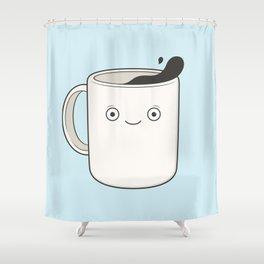 whoa, coffee! Shower Curtain