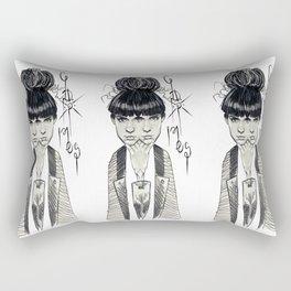 Conjoined Art Angels Rectangular Pillow