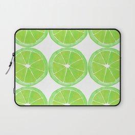 Pattern of Limes in Watercolor Laptop Sleeve