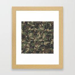 Sex positionns camouflage Framed Art Print