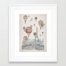 Voyages Over Paris Framed Art Print