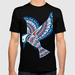 Kingfisher Pacific Northwest Native American Style Art T-shirt