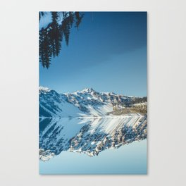 Crater Reflection Canvas Print