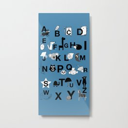 ABC Blue Metal Print