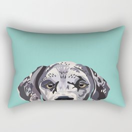 Great Dane pet portrait art print and dog gifts Rectangular Pillow