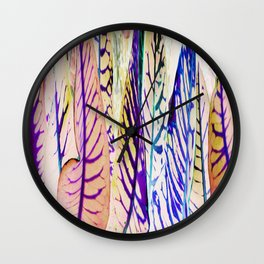 468 - Abstract plant Design Wall Clock