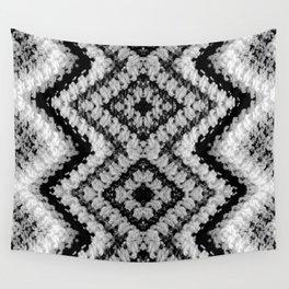 Black White Diamond Crochet Pattern Wall Tapestry