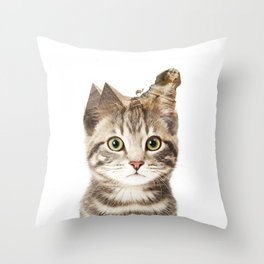 Giza Kittyscape Throw Pillow