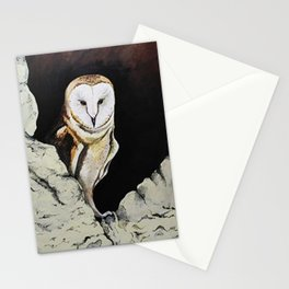 Barn Owl Nature Acrylic Rocky Stationery Cards