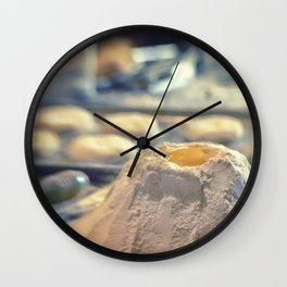 Egg Volcano baking biscuits kitchen art Wall Clock